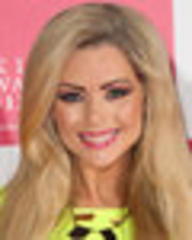why just flash one leg? busty babe nicola mclean wows in thigh-baring neon